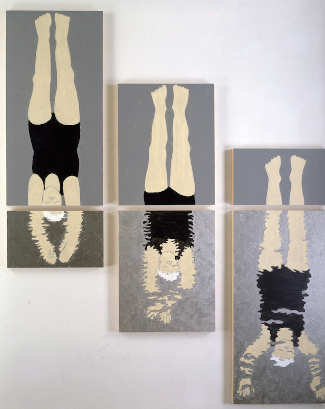 07_Susan Weil, Divers, 2001, acrylic on wood, 52 x 88 inches