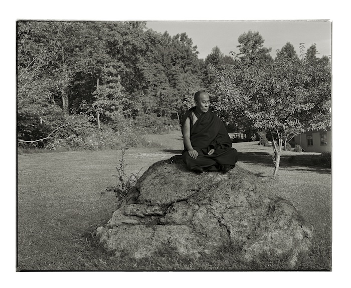 11_ The Dalai Lama, Washington, New Jersey, 1990, archival pigment print, 30.5 x 37 inches Photograph © Annie Leibovitz