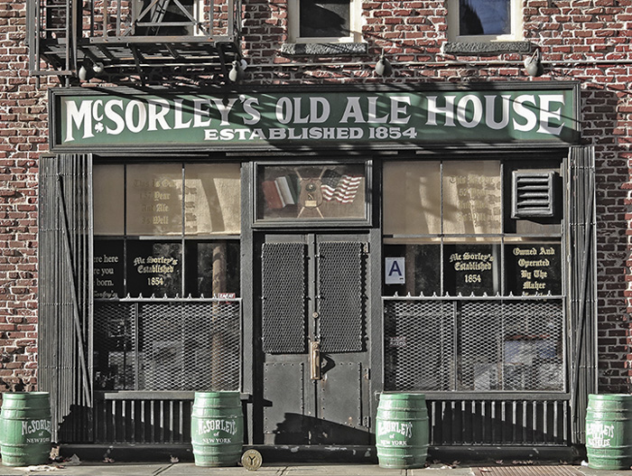 mcsorleys with NYC subway token for scale