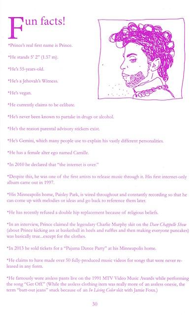Prince Zine (Fun Facts)