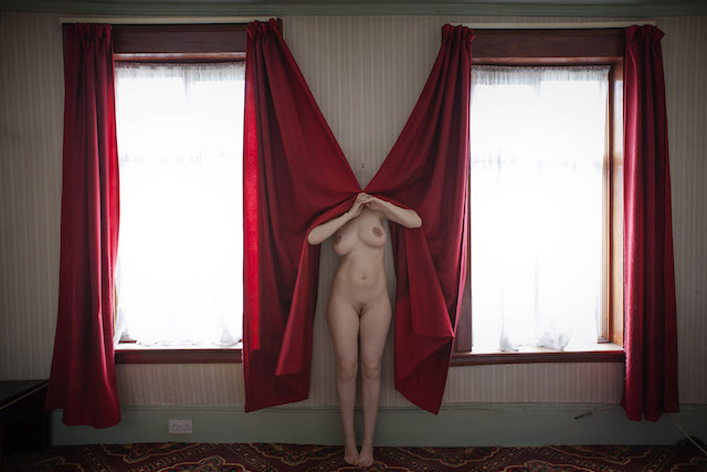 September 2014, John Campbell Road, Red Curtains