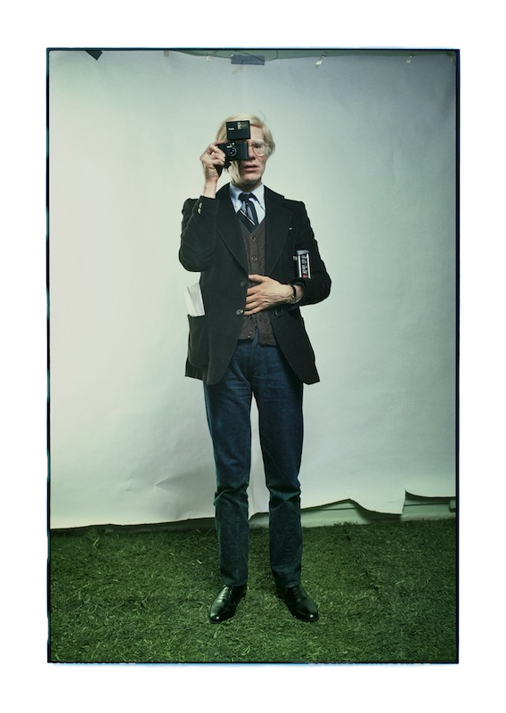 12_ Andy Warhol, New York City, 1976, archival pigment print, 30.5 x 21.5 inches Photograph © Annie Leibovitz