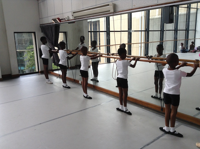 Joburg Ballet School_boys at the barre_Photo courtesy Joburg Ballet