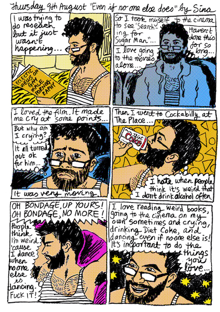 Even if no one else does Thursday 9th August 2012 diary comic color