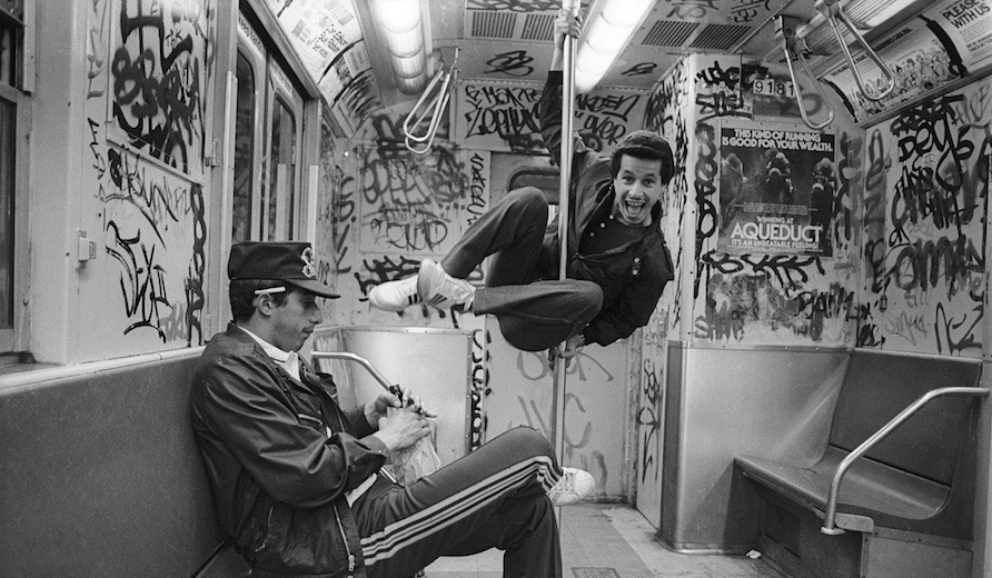Carlos and Boogie on the 6 Train - 1984, Photo by Ricky Flores