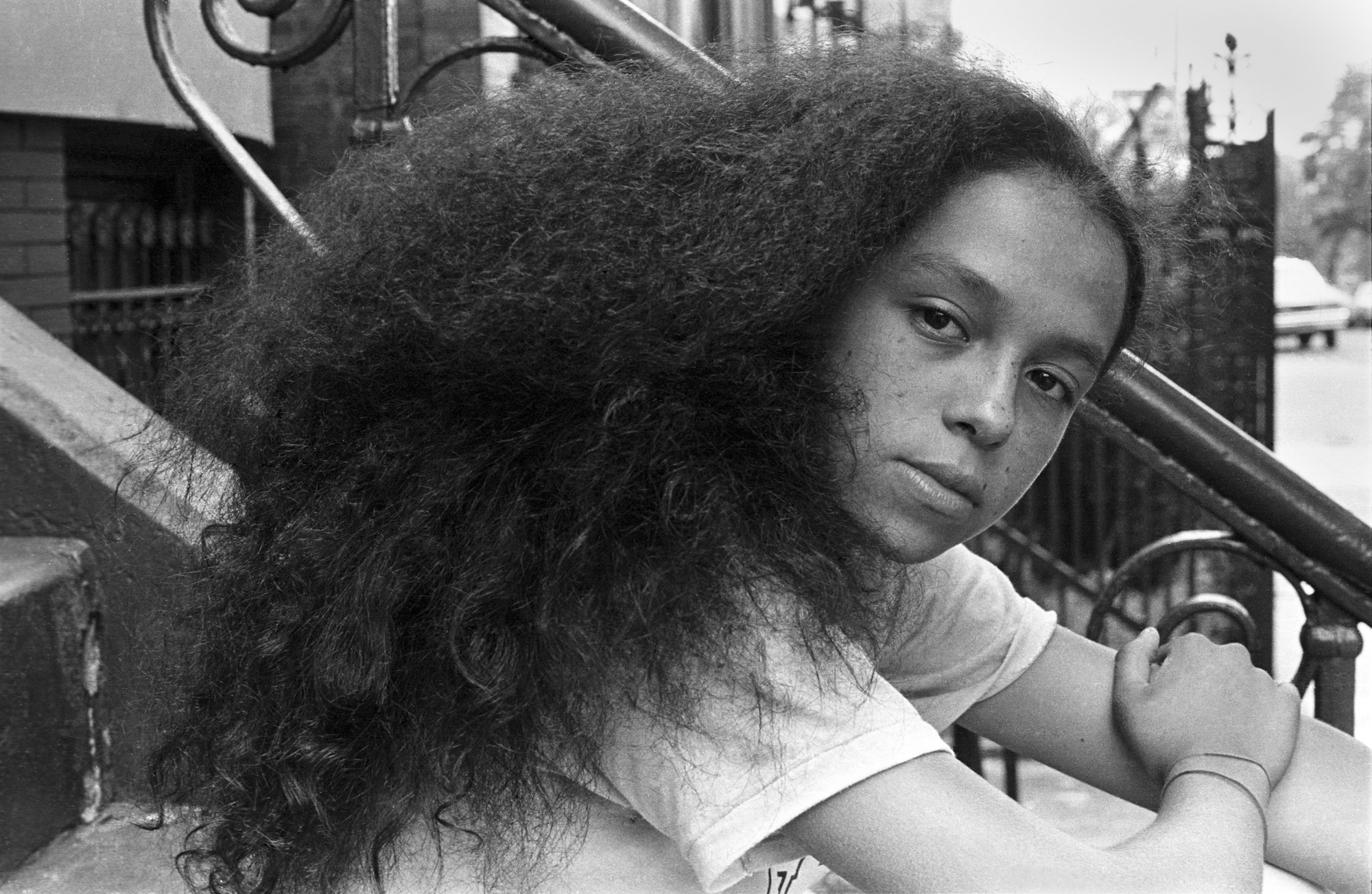 Adeleine, 156th Street, South Bronx, 1984.  Photo by Ricky Flores
