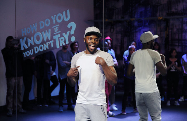 """Deaf Dance Instructor Christopher Fonseca, 27, Teaches Class To Local Deaf Community Members As Part Of His Global Tour As Part Of The New Smirnoff ICE Electric Flavors ""Keep It Moving"" Campaign On Tuesday May 3, 2016 In New York, NY."""