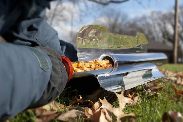 GoSun Sport Solar Stove Grill Cooker Leaves Fall