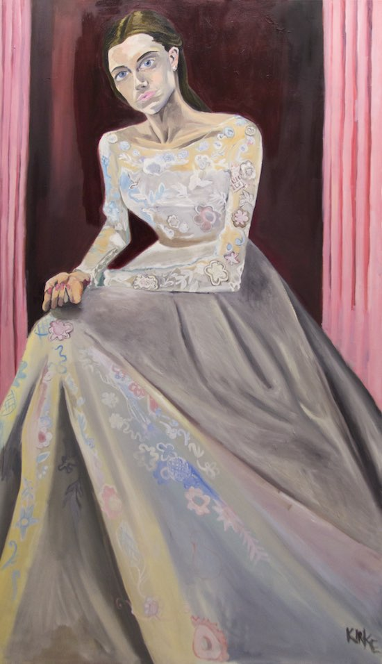 Kirke, Jemima, Allison in Her Wedding Dress, 2017, Oil on canvas, 68 x 40 inches