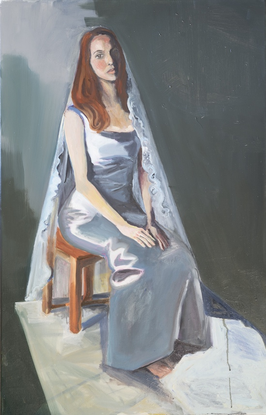 Kirke, Jemima, Bride in a Dark Room, 2017, Oil on canvas, 36 x 23 inches