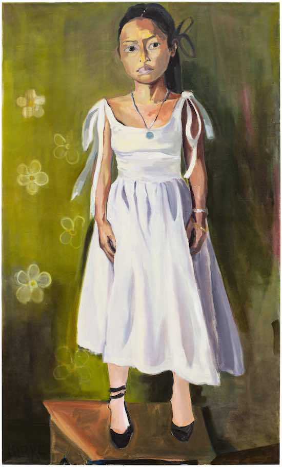 Kirke, Jemima, Elaine in Her Wedding Dress, 2017, Oil on canvas, 50 x 30 inches