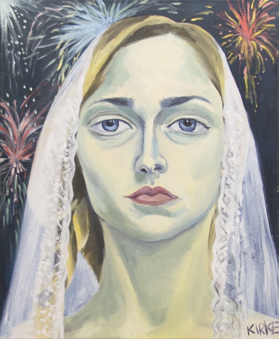 Kirke, Jemima, Self-portrait as a Bride #1, 2015, Oil on canvas, 22 x 18 inches