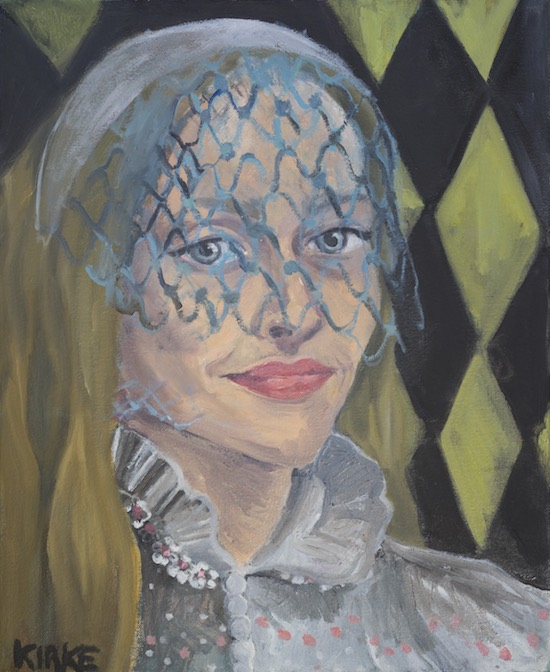 Kirke, Jemima, Self-portrait as a Bride #2, 2017, Oil on canvas, 16 x 13 inches