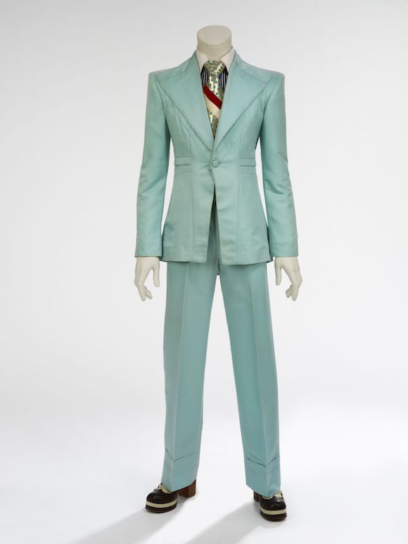 Ice-blue suit, 1972. Designed by Freddie Burretti for the 'Life on Mars' video