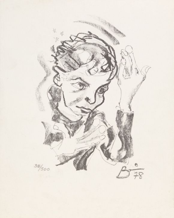 Print after a self-portrait by David Bowie, 1978