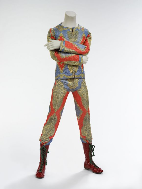 Quilted two-piece suit, 1972