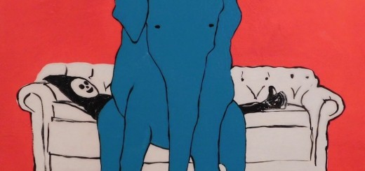 Brian Leo_ Elephant On Couch_20 inx20in_acrylic on canvas_2017_$1500のコピー2