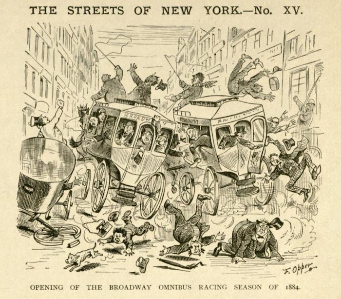 """""""The Streets of New York"""", 1884"""