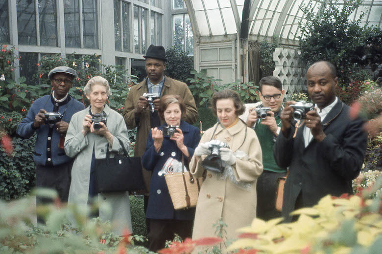 group_portrait_with_cameras_belle_isle_conservatory_detroit_attrib_to_arthur_strossaround_1970