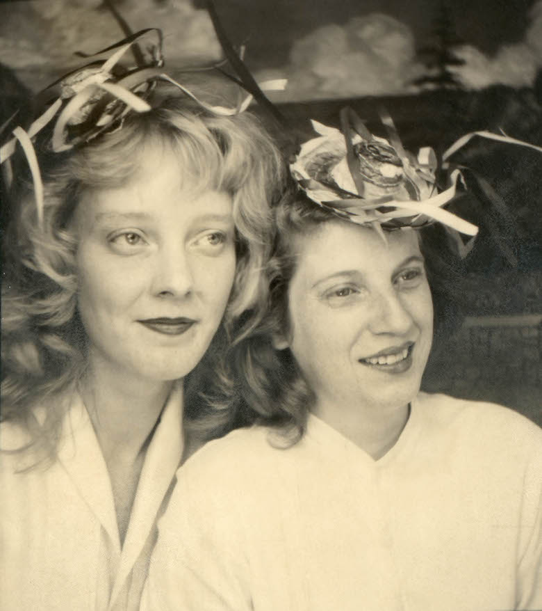 untitled_portrait_of_two_girls_with_straw_hats_from_traveling_photo_studio_unknown_photographer_around_1950-60