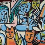SUNDAY ART SCROLL -リアルタイムで芸術速報/新進気鋭の米女流画家が描く「丸、四角、女の体と猫」