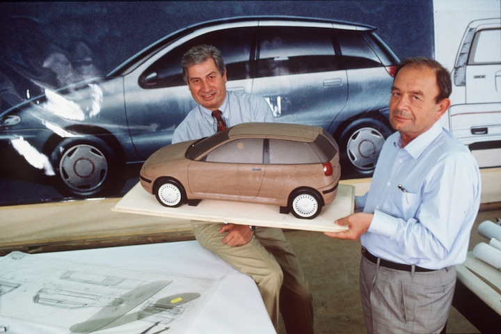 1992 - Giugiaro e Mantovani with Punto model
